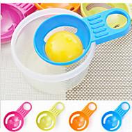 olcso -elválasztó több színű tojásfehérje elválasztó konyhai eszközök, különleges és finom (véletlenszerű szín)