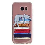 Недорогие Чехлы и кейсы для Galaxy S8 Plus-Кейс для Назначение SSamsung Galaxy S8 Plus S8 С узором Кейс на заднюю панель Кот Мягкий ТПУ для S8 Plus S8 S7 edge S7 S6 edge S6