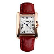Недорогие Фирменные часы-SKMEI Жен. Наручные часы Японский Защита от влаги / Cool / Крупный циферблат Натуральная кожа Группа На каждый день / Мода Черный / Красный