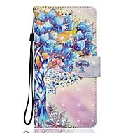 Недорогие Кейсы для iPhone 8-Кейс для Назначение Apple iPhone X iPhone 8 Бумажник для карт Кошелек со стендом Флип Магнитный С узором Чехол дерево Твердый Кожа PU для