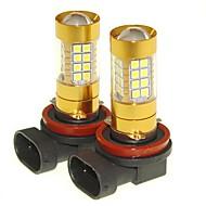 abordables -SENCART 2pcs PGJ19-2 Automatique Ampoules électriques 36W SMD 3030 1500-1800lm Ampoules LED Feu Antibrouillard