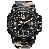 Недорогие Фирменные часы-SMAEL Муж. Цифровой Спортивные часы Китайский Защита от влаги Фосфоресцирующий Хронометр PU Группа Cool Черный Красный