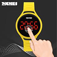 Недорогие Фирменные часы-SKMEI Жен. электронные часы Китайский Защита от влаги / Фосфоресцирующий / Cool PU Группа На каждый день Черный / Синий / Красный / Два года / Maxell626 + 2025