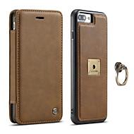 Caseme® para el iphone de la manzana 7 más el cuero genuino de la caja del teléfono del tirón del sostenedor de la tarjeta 7 para el