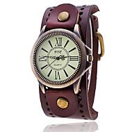 voordelige Modieuze horloges-Heren Kwarts Armbandhorloge Chinees Vrijetijdshorloge Leer Band Vintage Informeel Uniek creatief horloge Elegant Modieus Zwart Wit Blauw