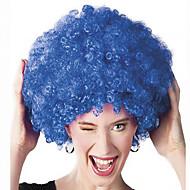 Недорогие Парики из искусственных волос-Парики из искусственных волос Без шапочки-основы Средний Кудрявые Синий Парик в афро-американском стиле Для темнокожих женщин Парики для