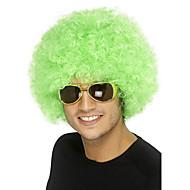 Недорогие Парики из искусственных волос-Парики из искусственных волос Без шапочки-основы Средний Кудрявые Зеленый Парик в афро-американском стиле Для темнокожих женщин Парики