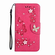 Case for Samsung Galaxy J5(2017) J3(2017) Wallet Rhinestone Embossed Butterfly PU Leather Case for Samsung Galaxy J3(2016) J3