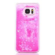 hoesje Voor Samsung Galaxy S7 edge S7 Stromende vloeistof Transparant Patroon Achterkantje Geometrisch patroon Glitterglans Hard PC voor