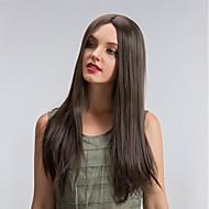お買い得  -人工毛ウィッグ ストレート スタイル キャップレス かつら ブラウン ベージュ 合成 ブラウン かつら ロング MAYSU ナチュラルウィッグ