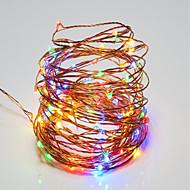 tanie Taśmy świetlne LED-10W Łańsuchy świetlne 100 <5V 10m 100 Diody lED Ciepła biel Biały RGB Czerwony Żółty Niebieski Zielony
