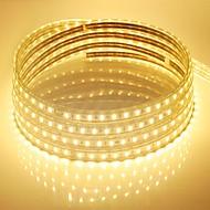 abordables Tiras de Luces LED-10m 600 LED Blanco Cálido / Blanco / Azul Impermeable 220 V / 5050 SMD / IP65