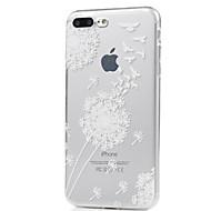 Недорогие Кейсы для iPhone 8-Кейс для Назначение Apple iPhone X iPhone 8 Ультратонкий С узором Кейс на заднюю панель одуванчик Мягкий ТПУ для iPhone X iPhone 8 Pluss