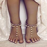 preiswerte -Damen Künstliche Perle Tropfen Bling Bling Fusskettchen Schmuck Gold / Silber Für Strasse Ausgehen