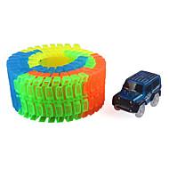 Kendin-Yap Seti Raylar Araba Oyuncak arabalar Klasik Araba Oyuncaklar Yenilik Gece Parlayan Kendin-Yap Çocuk Parçalar