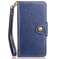 Кейс для Назначение SSamsung Galaxy Note 8 Кошелек Бумажник для карт со стендом Флип Магнитный Чехол Сплошной цвет Твердый Искусственная