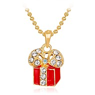 Недорогие Новогодние украшения-Жен. Ожерелья с подвесками - Стразы Мода Цвет радуги Ожерелье Бижутерия Назначение Рождество, Новый год