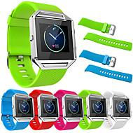 Недорогие Аксессуары для смарт-часов-Ремешок для часов для Fitbit Blaze Fitbit Современная застежка Нержавеющая сталь силиконовый Повязка на запястье