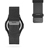 para hoco samsung gear s3 watch band aço inoxidável milanese loop magnetic watch replacement 22mm black&prata