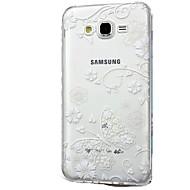 olcso Galaxy J tokok-Case Kompatibilitás Samsung Galaxy J7 (2017) J3 (2017) Átlátszó Minta Hátlap csipke nyomtatás Puha TPU mert J7 V J7 Perx J7 (2016) J7