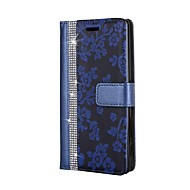 お買い得  携帯電話ケース-ケース 用途 Sony ソニーのXperia XA ソニーのXperia X カードホルダー ウォレット ラインストーン スタンド付き フリップ フルボディーケース フラワー ハード PUレザー のために Sony Xperia XZ Premium Sony Xperia