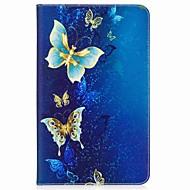 お買い得  タブレット用アクセサリー-ケース 用途 Samsung Galaxy フルボディーケース タブレットケース バタフライ ハード PUレザー のために Tab A 10.1 (2016)
