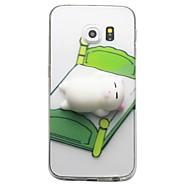 Χαμηλού Κόστους Galaxy S5 Mini Θήκες / Καλύμματα-tok Για Samsung Galaxy S8 Plus S8 Διαφανής Με σχέδια Φτιάξτο Μόνος Σου Squishy Πίσω Κάλυμμα Γάτα Κινούμενα σχέδια 3D Μαλακή TPU για S8 S8