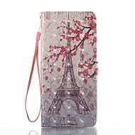 halpa Galaxy Note -sarjan kotelot / kuoret-Etui Käyttötarkoitus Samsung Galaxy Note 8 Korttikotelo Lomapkko Tuella Flip Magneetti Kuvio Suojakuori Eiffel-torni Kova PU-nahka varten