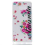 чехол для Samsung примечание 8 покрытие светится в темноте задняя крышка case word / phrase flower soft tpu