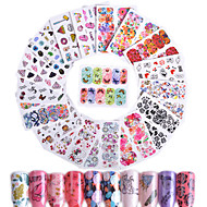 45 Nagelkunst sticker Patroon Accessoires Art Deco / Retro Wateroverdracht Sticker 3D DHZ-benodigdheden Sticker make-up Cosmetische