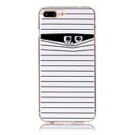 Назначение iPhone X iPhone 8 Чехлы панели С узором Задняя крышка Кейс для Полосы / волосы Мультипликация Мягкий Термопластик для Apple