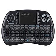 お買い得  -ipazzport iPazzPort mini Bluetooth keyboard KP-810-21BTL(Backlit) エアーマウス 2.4GHz帯のワイヤレス ブルートゥース 4.0