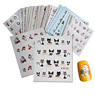 44 Sheets Set Mixed Fashion Christmas Decals Nail Art Water Transfer Sticker Lovely Happy Xmas Winter Designs Nail DIY Decorations Manicure Beauty Tip