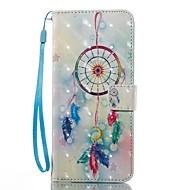 Кейс для Назначение SSamsung Galaxy S8 Plus S8 Кошелек Бумажник для карт со стендом Флип С узором Чехол Ловец снов Твердый Искусственная