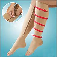 1pair kompressziós zokni cipzár láb támogatja a térd harisnyát nyitott lábujj