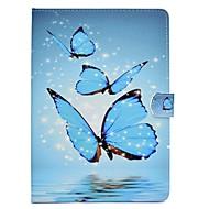 Para iPad (2017) Carcasa Funda Soporte de Coche con Soporte Flip Diseños Magnética Cuerpo Entero Funda Mariposa Dura Cuero Sintético para
