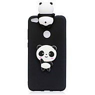 voordelige Telefoon hoesjes-hoesje Voor Huawei P10 Lite P10 Patroon DHZ Achterkantje Panda Zacht TPU voor Huawei P10 Lite Huawei P10 Huawei P8 Lite (2017)