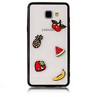 voordelige Galaxy A7(2016) Hoesjes / covers-hoesje Voor Samsung Galaxy A5(2017) A3(2017) Transparant Achterkantje Voedsel 3D Cartoon Hard Acryl voor A7 (2017) A3 (2017) A5 (2017)