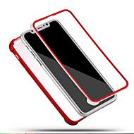 Voor iPhone X iPhone 8 iPhone 8 Plus Hoesje cover Schokbestendig Volledige behuizing hoesje Effen Kleur Zacht Siliconen voor Apple iPhone