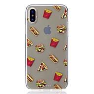 Недорогие Кейсы для iPhone 8-Кейс для Назначение Apple iPhone X iPhone 8 Защита от удара Ультратонкий С узором Кейс на заднюю панель Продукты питания Мягкий ТПУ для