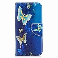 Недорогие Кейсы для iPhone 8-Кейс для Назначение Apple iPhone X iPhone 8 Бумажник для карт Кошелек со стендом Чехол Бабочка Твердый Кожа PU для iPhone X iPhone 8