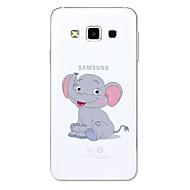 Кейс для Назначение SSamsung Galaxy A5(2017) A3(2017) Прозрачный С узором Задняя крышка Животное Мультипликация Слон Мягкий Термопластик