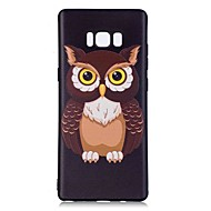 hoesje voor Samsung Galaxy Note 8 Uil Pattern Back Cover Soft TPU Case