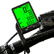voordelige Fietsen & Wielrennen-West biking Fietscomputer waterdicht Draadloos Gem - Gemiddelde Snelheid KM - Kilometerteller Max - Maximale Snelheid SPD - Huidige
