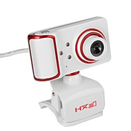 USB Webcam Rotatable Focus Angle PC Camera Built-in Microphone / 3 LEDs / Clip Style / HD Display