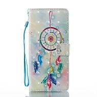 Недорогие Чехлы и кейсы для Galaxy Note 8-Кейс для Назначение SSamsung Galaxy Note 8 Бумажник для карт Кошелек со стендом Флип Магнитный С узором Чехол Ловец снов Твердый Кожа PU