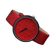 Women's Fashion Watch Quartz Genuine Leather Band Casual Black White Blue Red Orange Green Pink