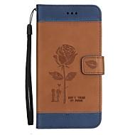 Недорогие Чехлы и кейсы для Galaxy A7(2016)-Кейс для Назначение SSamsung Galaxy A7(2016) A5(2016) Бумажник для карт Кошелек со стендом Флип Рельефный Чехол Цветы Твердый Кожа PU для