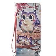Недорогие Чехлы и кейсы для Galaxy S7 Edge-Кейс для Назначение SSamsung Galaxy S8 Plus S8 Бумажник для карт Кошелек со стендом Флип С узором Чехол Сова Твердый Кожа PU для S8 Plus