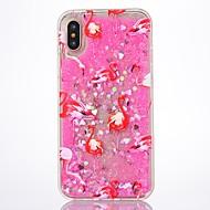 Назначение iPhone X iPhone 8 Чехлы панели Движущаяся жидкость Задняя крышка Кейс для Фламинго Сияние и блеск Твердый PC для Apple iPhone